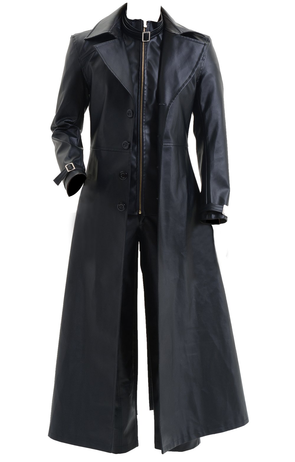 CosDaddy® Cosplay Costume Albert Wesker Black Coat Jacket,Men-Large by CosDaddy