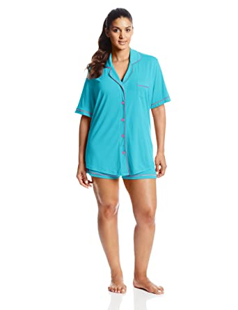 53fd459ab81 Cosabella Women s Bella Plus Size Short Sleeve Boxer Pajama Set at ...