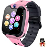 Kids Smart Watch Phone, Touch Screen Built in Selfie-Camera Recorder Call SOS Games Alarm MP3 Player Great Gift for Kids, Toy