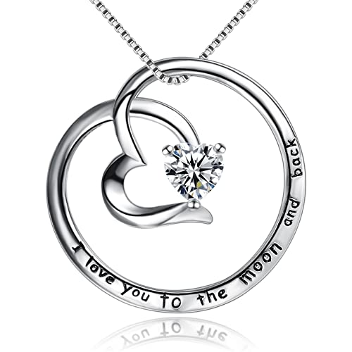 Amazon Com Bgty 925 Sterling Silver Jewelry I Love You To The Moon