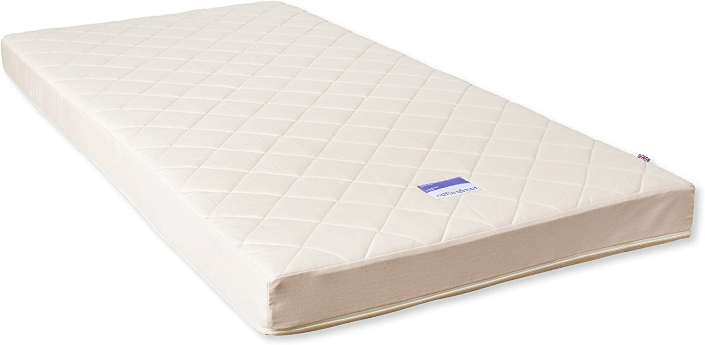 160 x 70 x 10 cm Naturalmat Coco Mat Organic Handmade Hypoallergenic Mattress for IKEA Cot Quilted
