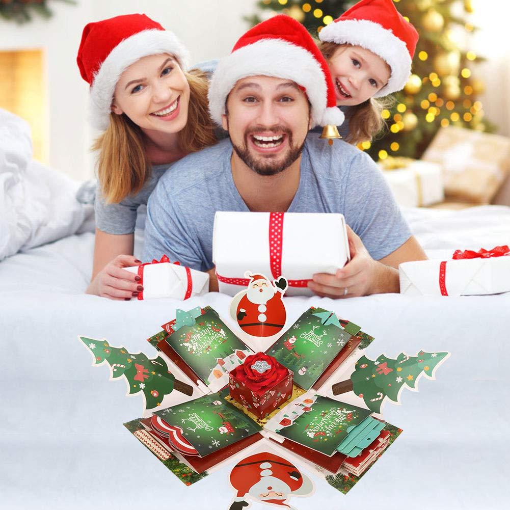 Geschenke f/ür Kinder Geburtstagsgeschenke Kreative /Überraschung Box DIY Weihnachten Geschenkbox Explosion Box Xmas Geschenkbox handgemachtes Scrapbook Partygeschenke Gifort Weinachten Schachtel