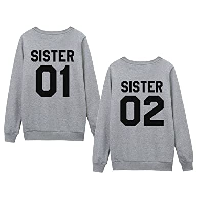 Amazon.com: Friends Pullover Women BFF Sweatshirts for Sisters Sweaters Matching: Clothing