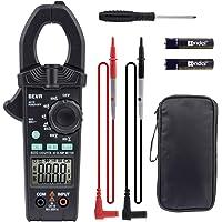 Pinza Digital Multímetro, BEVA Amperímetro Profesional sin Contacto 6000 Cuentas True RMS, Puede Probar Voltaje CA/CC…