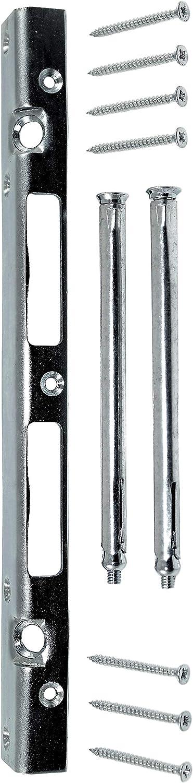 Sicherheits Reparatur Schließblech 300mm lang 25x20mm Rechts//Links