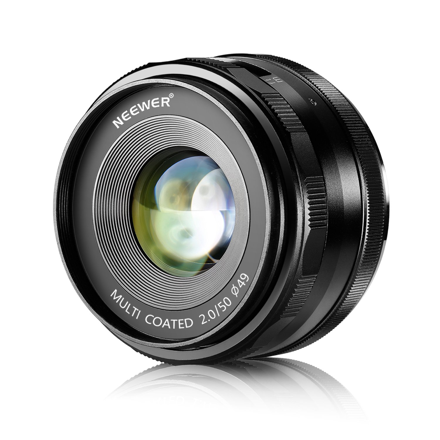 Neewer 50mm f/2.0 Manual Focus Prime Fixed Lens for SONY E-Mount Digital Cameras, Such as NEX3, 3N, 5, 5T, 5R, 6, 7, A5000, A5100, A6000, A6100 and A6300 (NW-E-50-2.0) by Neewer