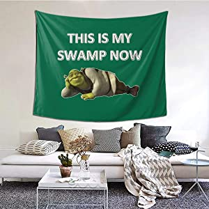 MOONSOON This is My Swamp Now Boutique Tapestry Wall Hanging Tapestry Vintage Tapestry Wall Tapestry Micro Fiber Peach Home Decor 59.1x51.2 in