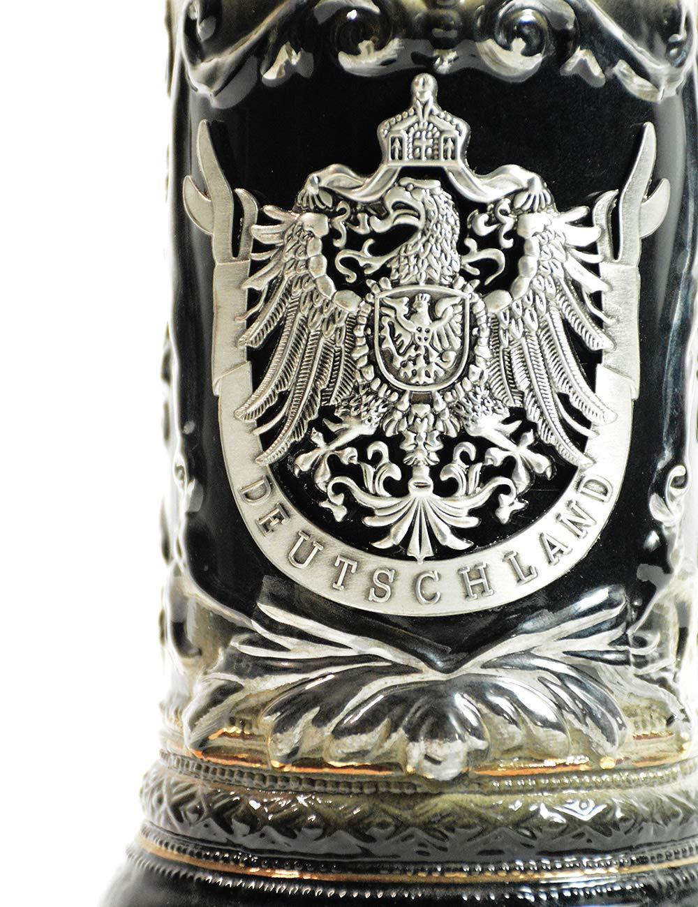 HomeBerry Beer Stein German Beer Stein With Lid Bierkrug Bier Stein Mug Krug Ceramic Beer Stein Steins 0.6L by HomeBerry (Image #7)