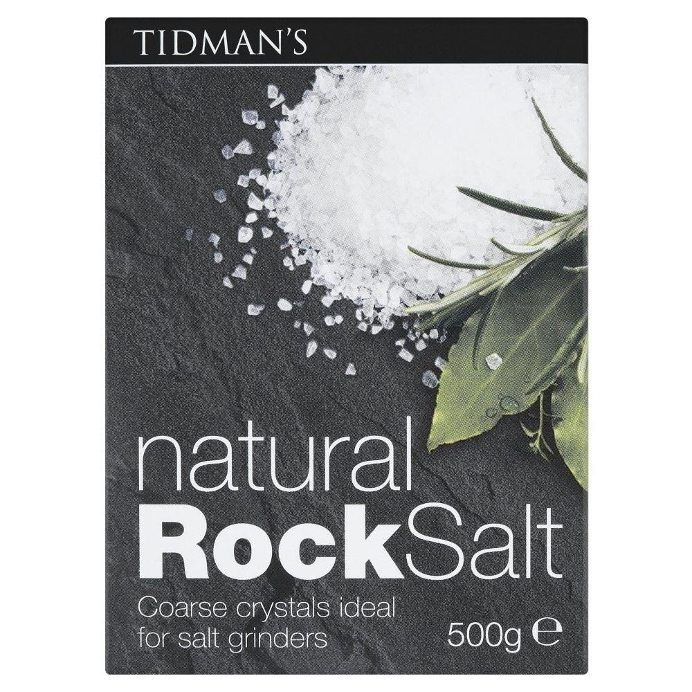 Tidman's Natural Rock Salt (500g) - Pack of 6 by Tidmans