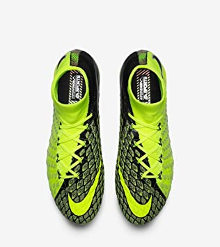 Nike Hypervenom Phantom III DF FG - EA Sports - Volt & Black Soccer Shoes  Size
