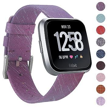 CAVN Correa tejida de repuesto para el reloj inteligente de pulsera Fitbit Versa. Diseño para