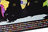 Scratch Off World Map Poster with US States