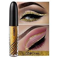 Niome 1PCS 13 Color Waterproof Shimmer Eyeshadow Glitter Liquid Eyeliner Pencil Metallic Shine Makeup 05#Cham