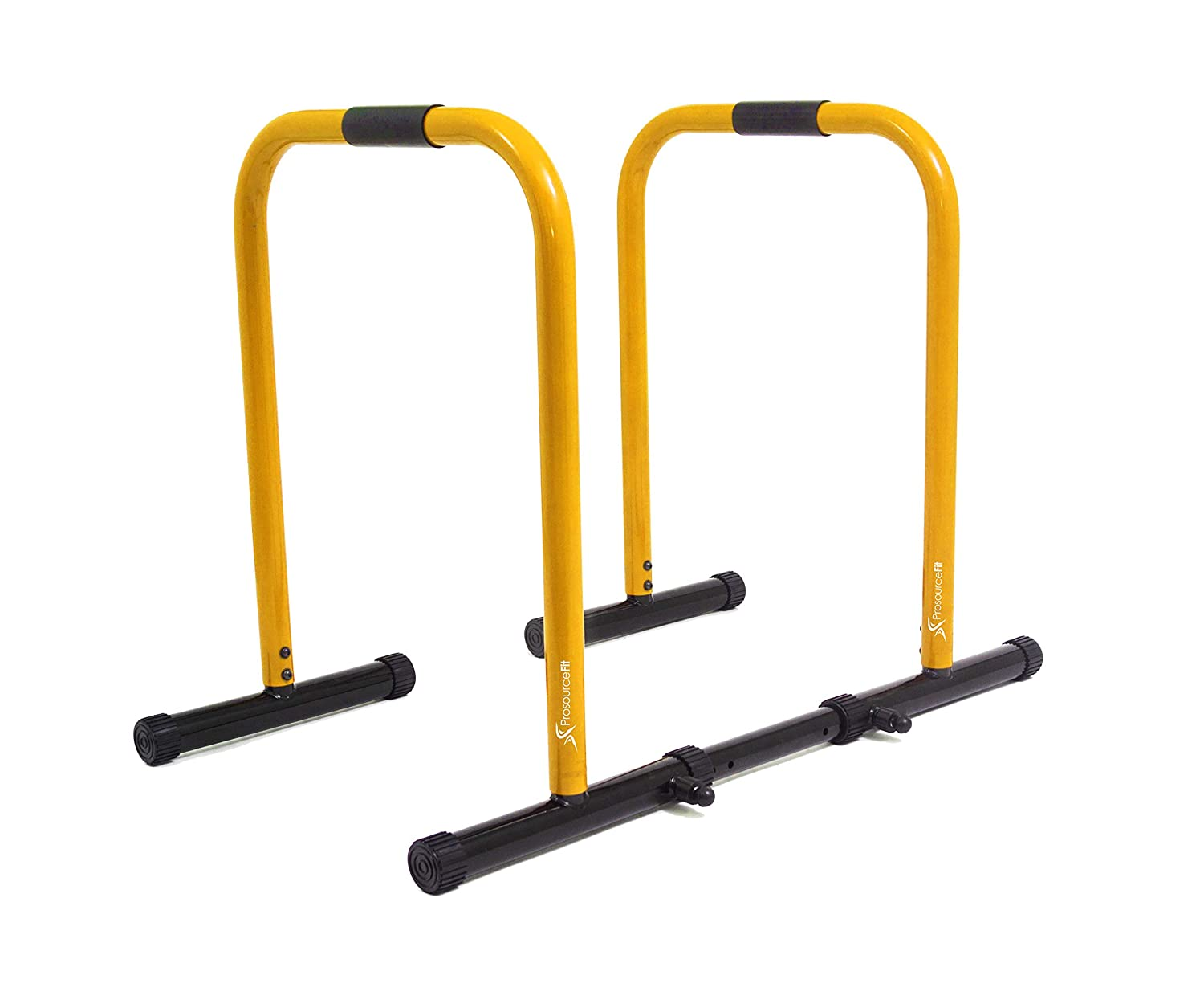 Prosourcefit dip stand station heavy duty body press bar yellow home
