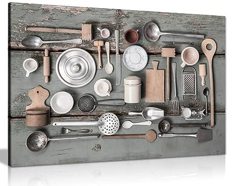 Stampe Da Cucina : Rustico art vintage utensili da cucina tela da parete stampa a3
