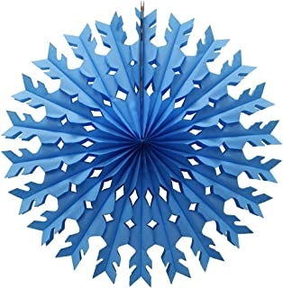 product image for 12-Pack 22 Inch Tissue Paper Snowflake Decorations (Turquoise)