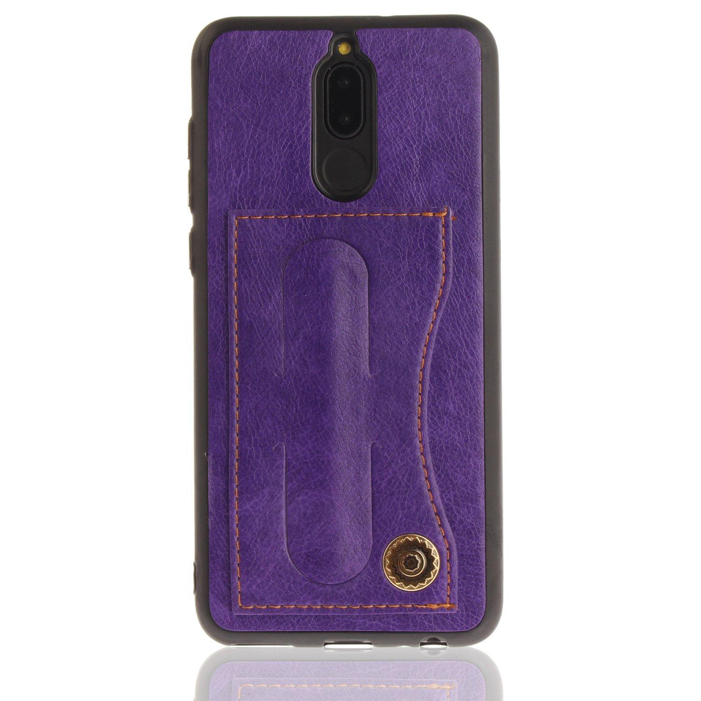 MoreChioce Custodia Huawei Mate 10 Lite, Kickstand e Supporto dell'anello Custodia in Pelle Portafoglio Leather Case Stand Cover con Magnetico Custodia per Huawei Mate 10 Lite,Blu