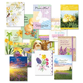 amazon com easter faith greeting cards value pack set of 12 12