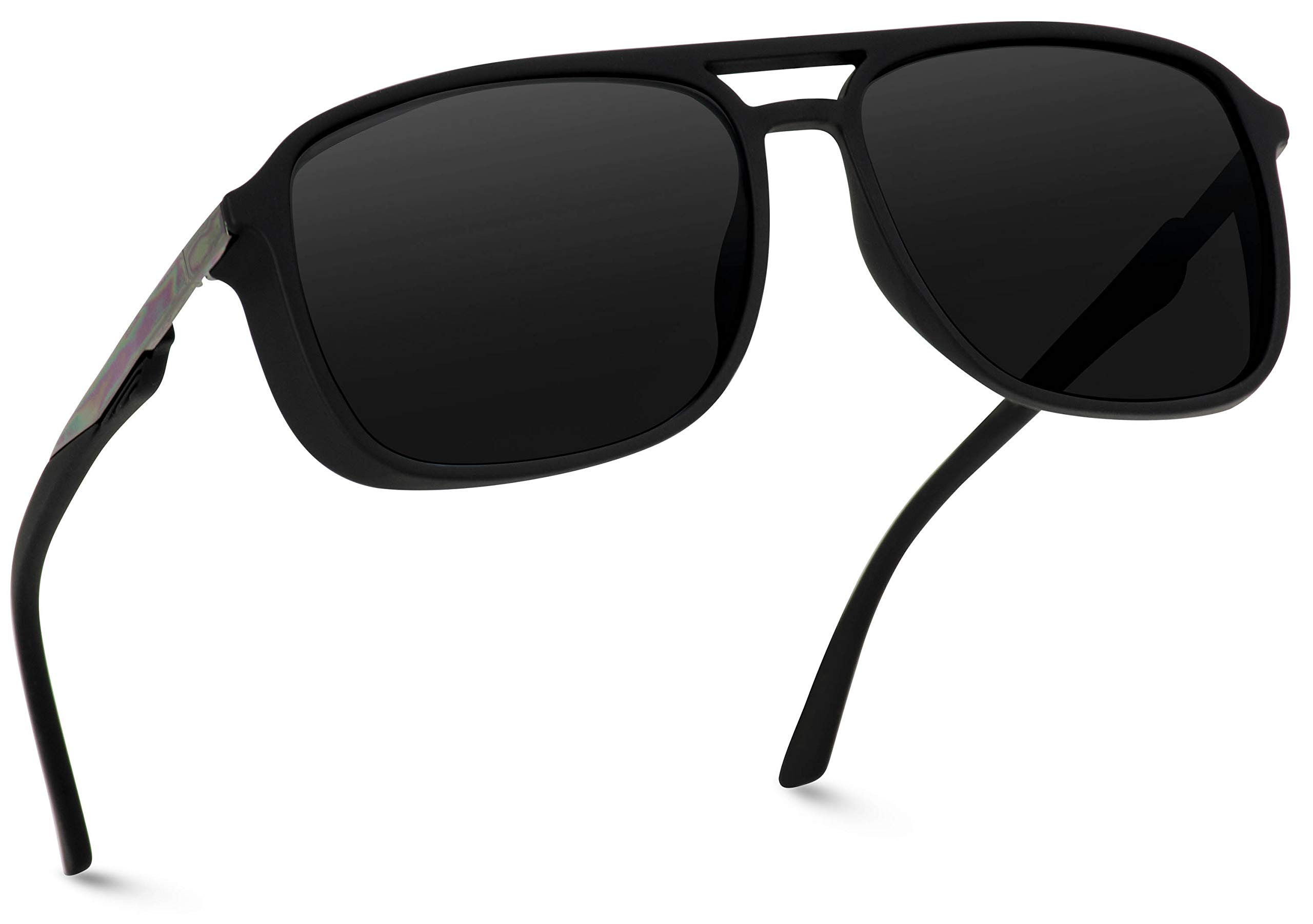 WearMe Pro EXCLUSIVE - Polarized Modern Square Aviator Sunglasses for Men by WearMe Pro
