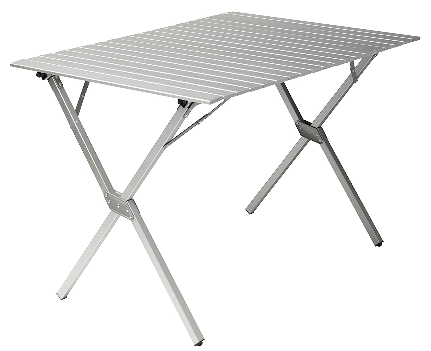 Gran Canyon Mesa familiar, mesa para camping plegable, aluminio, 112 x 80 x 72 cm, plata, 308021 Grand Canyon