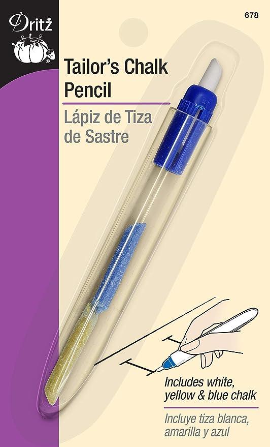 4 l/ápices de marca de costura para costura de sastre y marcadores de manualidades blanco, azul