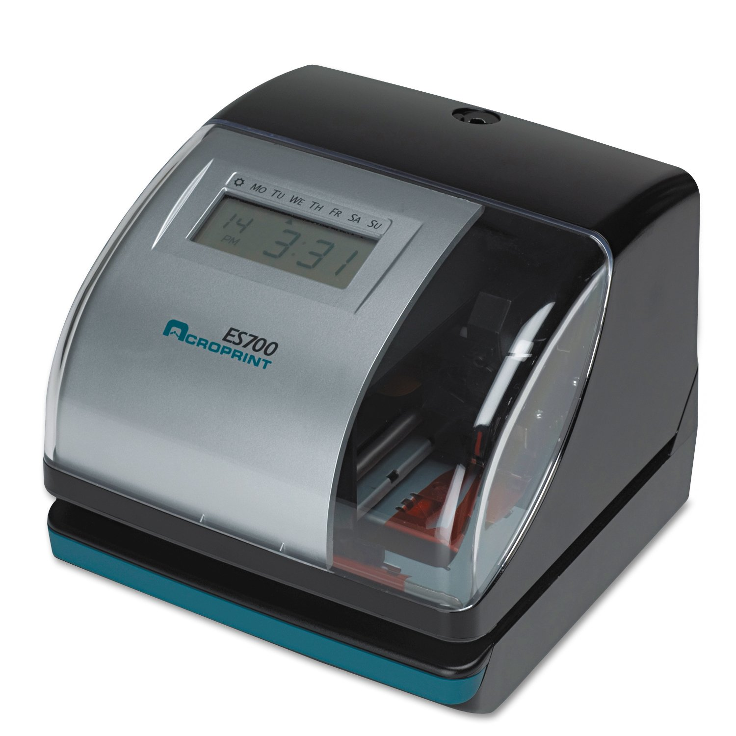 Acroprint 01-0182-000 Model ES700 Electronic Time Recorder, Internal Battery Backup Maintains Time Even During Power Outages, Accommodates Right or Left-hand Time Cards, Selectable Hour Format by Acroprint
