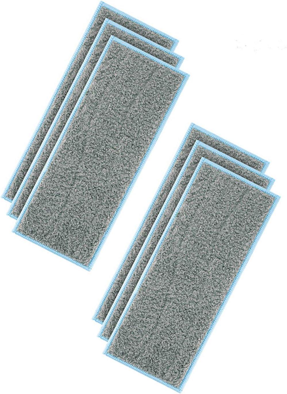 Lot de 6 chiffons de nettoyage humides lavables et r/éutilisables pour balai iRobot Braava Jet M6 Robot Mop Accessoires de rechange