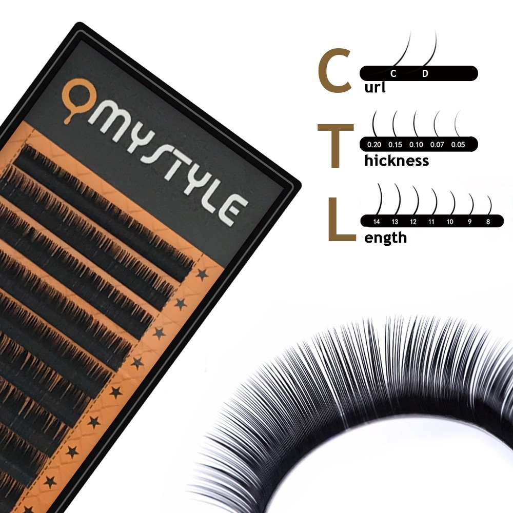 35f7854f30f Amazon.com : Omstyle Eyelash Extensions 3D Volume Lash Extensions  Individual False Eyelashes Mixed Tray 0.07mm 8-14mm C&D Curl Salon Perfect  Use : Beauty