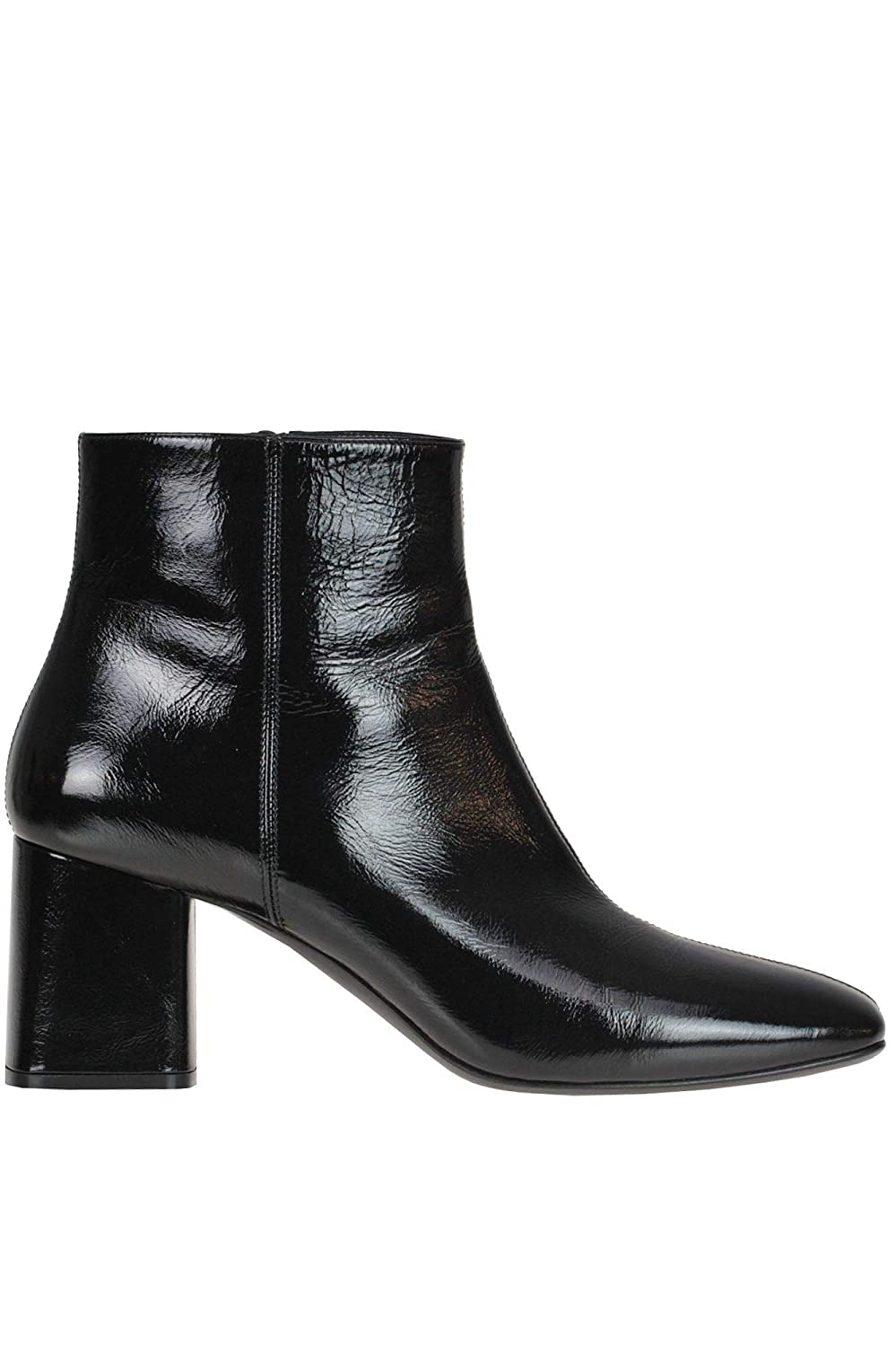 - Casadei Women's MCGLCAS000006037I Black Leather Ankle Boots