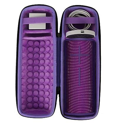co2crea Hard Travel Case for Ultimate Ears UE MEGABOOM 3 Portable Bluetooth  Wireless Speaker (Ultraviolet Purple case for Speaker and Charging Dock)