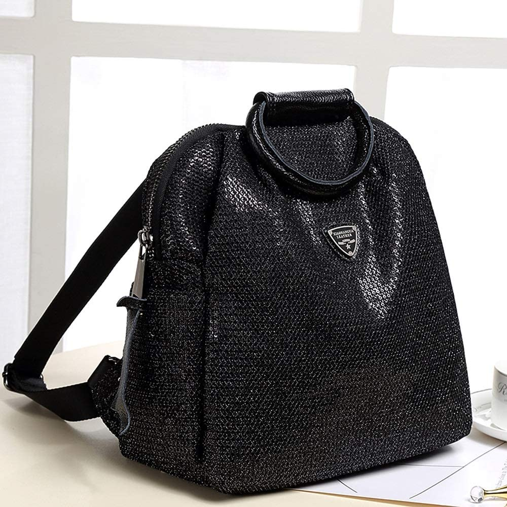 Multifunctional Oxford Backpack Backpack Womens Fashion Personality Sequin Backpack Color : Black Leisure Travel Academy Large Capacity Bag