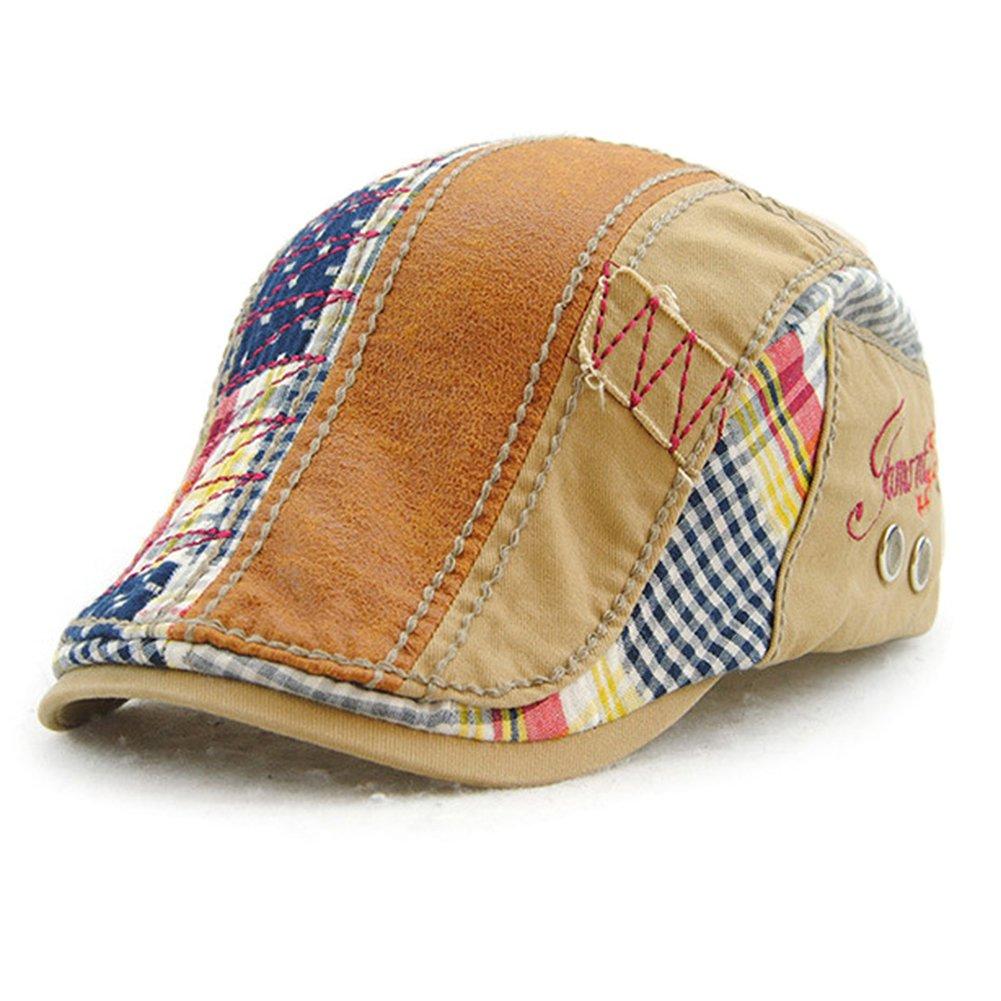 Baseball Cap Duckbill Hat Cotton Flat Cap Cabbie Cap Outdoor Fashionable Unisex Adjustable Newsboy Hat Beret Cap Tioamy