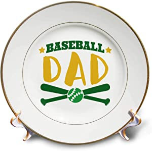 3dRose Sven Herkenrath Sport - Baseball Dad for Fathersday and Daddy who Loves Sport - 8 inch Porcelain Plate (cp_319689_1)