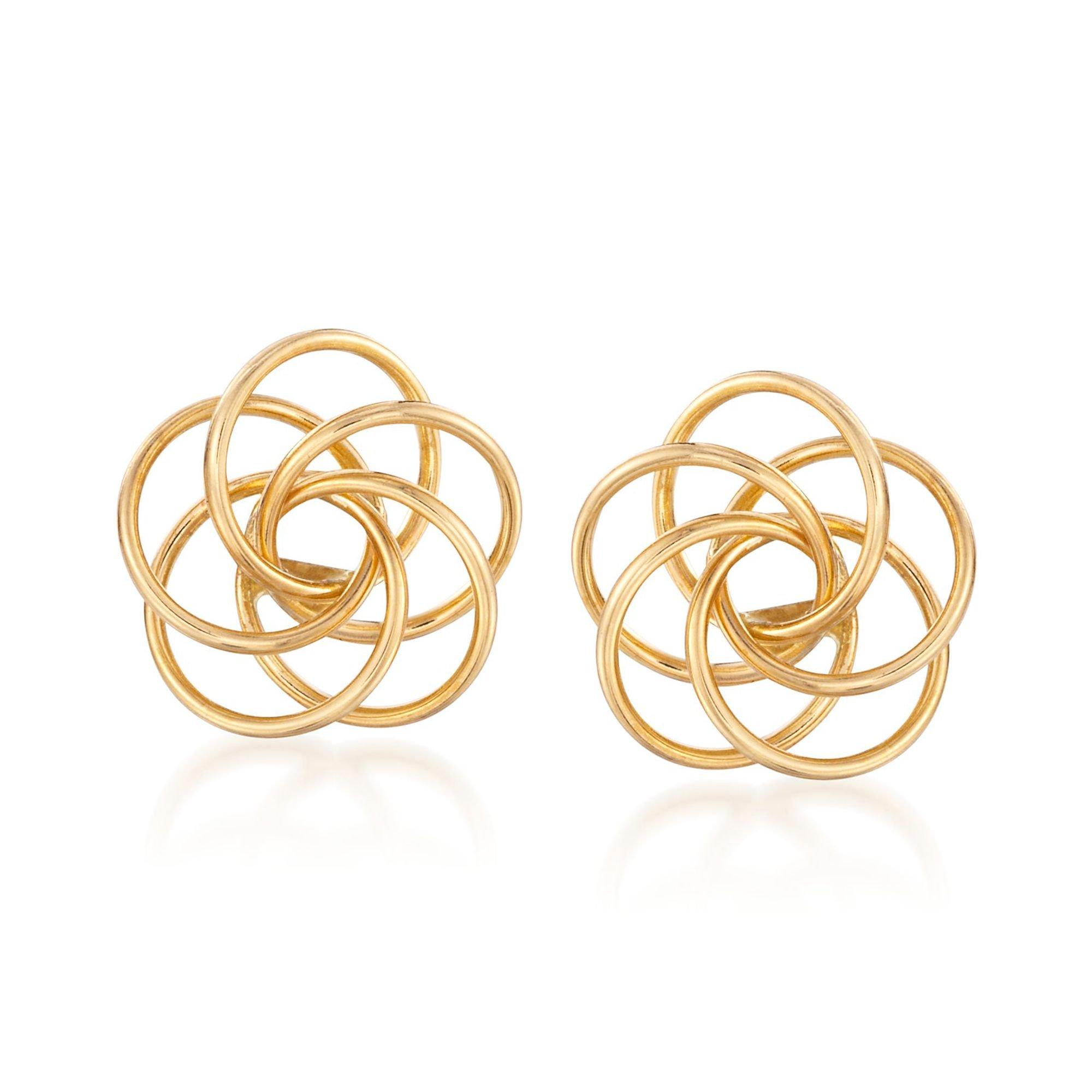 Ross-Simons 14kt Yellow Gold Open Knot Earring Jackets