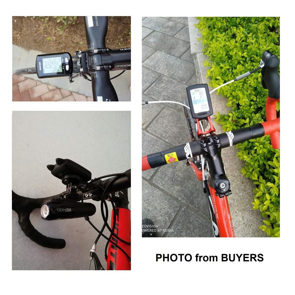 XOSS Garmin Mount Bicycle Edge Mount,Out Front Road Bike Computer Mount Bracket Bike Mount for Garmin Edge 1000/820/810/500/520/510/200 GPS (N Black)
