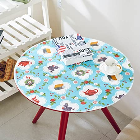 06c953eeb0c DONG Tablecloth fabric tea tablecloth waterproof oil high temperature cotton  printing PVC plastic table cloth round
