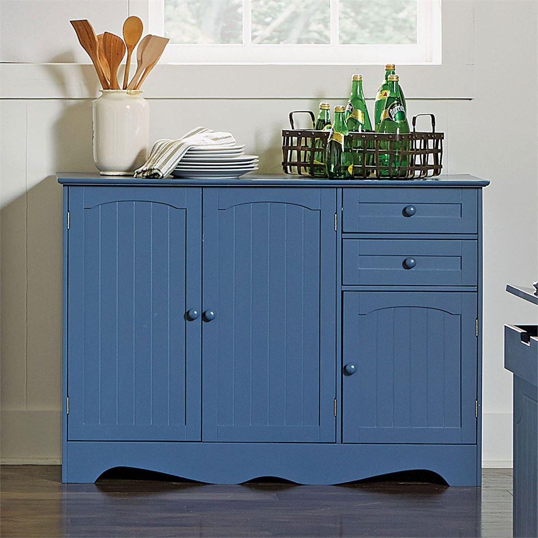 Amazon.com - Brylanehome Country Kitchen Buffet (Blue, 0) - Buffets ...