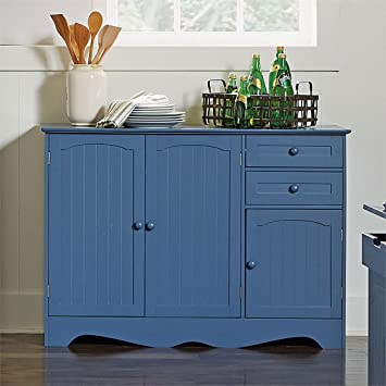 Incroyable Brylanehome Country Kitchen Buffet (Blue,0)
