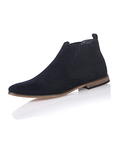 Boots effet daim Homme bleu navy caTbQyGM