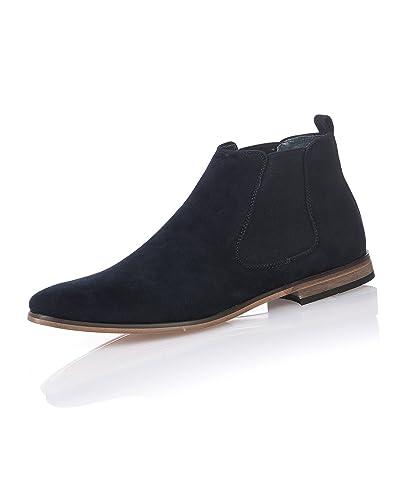 Boots effet daim Homme bleu navy caTbQyGM