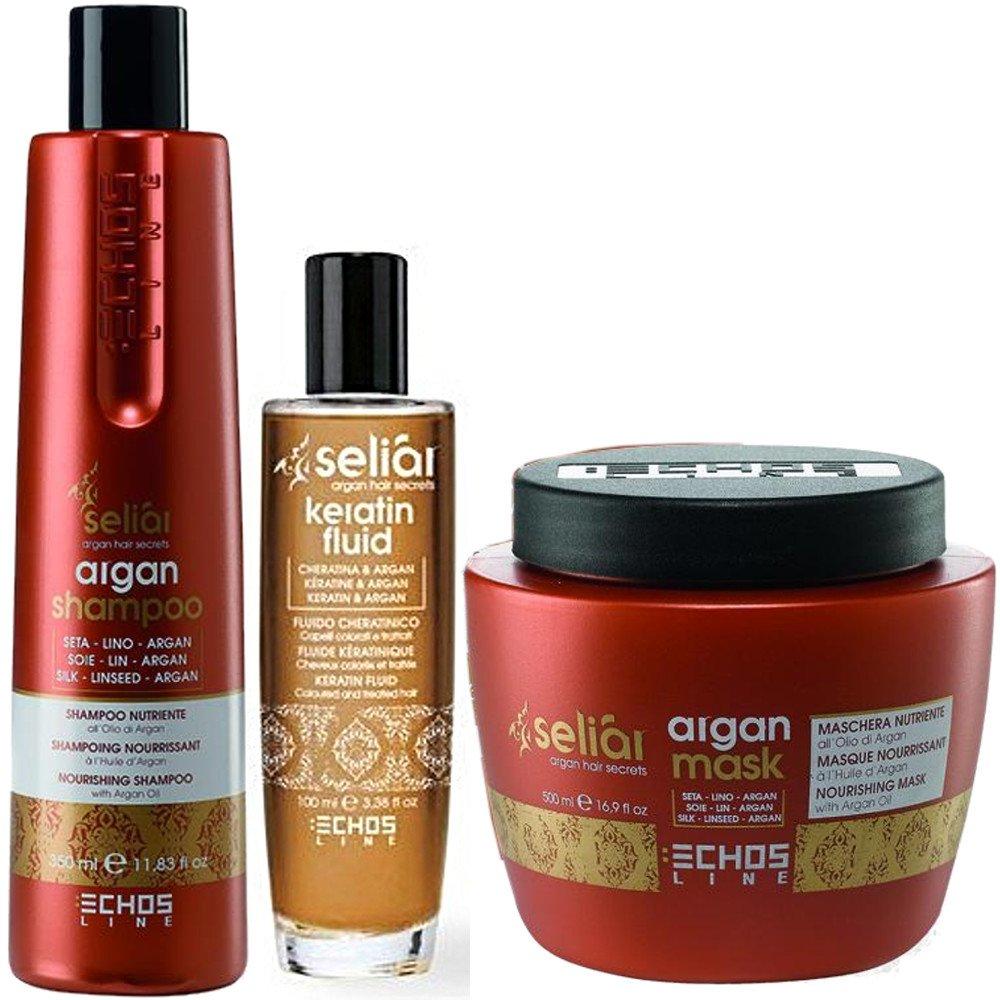 Séliar Prestige Kit - Shampoo 350 ml + Maschera 500 ml + Fluido 100 ml - Echosline