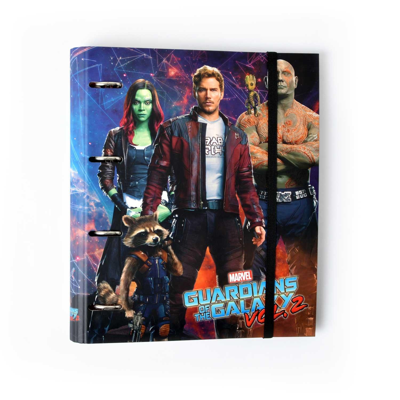Grupo Erik Editores cat0014–Cartella con 4anelli, fustellato, motivo Marvel Guardiani della Galassia