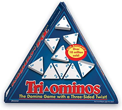 Classic Triangular Domino Game for 2-6 Players /& Ages 8 /& Above Tri-Ominos