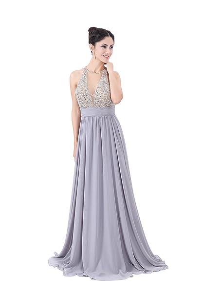 Amazon.com: Corola diosa mujer abalorios vestidos de noche ...