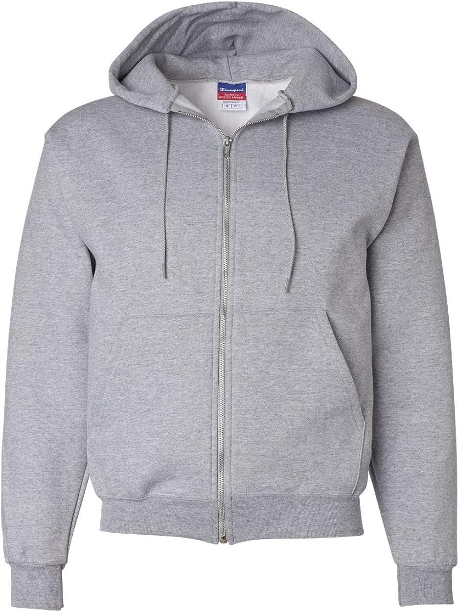 Champion Adult 50/50 Full-Zip Hooded Sweatshirt, Ash, XXX-Large
