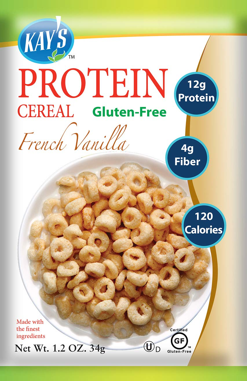 Kay's Natural Protein Cereal - French Vanilla Flavor, 1.2-Ounce (Pack of 12)