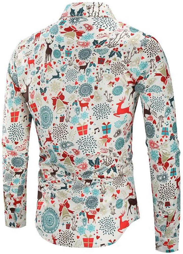 Camisas Hawaianas Hombre Casual Tema De Navidad BotóN De Camisa Superior Blusa: Amazon.es: Ropa y accesorios