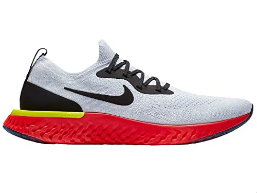 Image Unavailable. Image not available for. Color  Nike Epic React Flyknit  - Men s True White Black Pure Platinum Bright Crimson 957f402bc