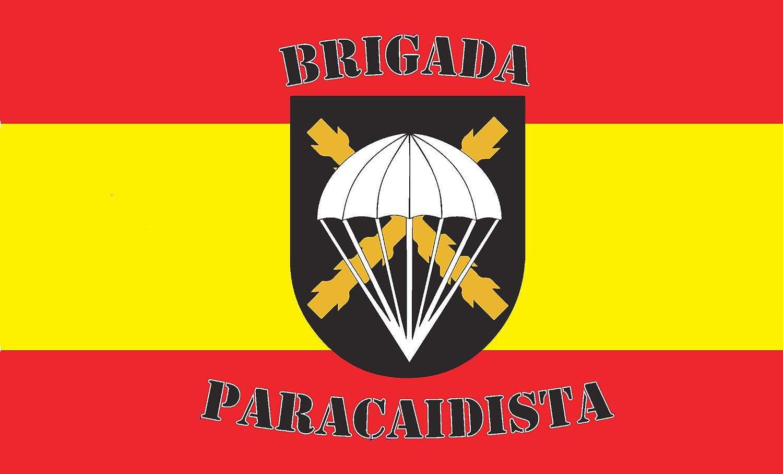 Durabol Bandera de España con Brigada Paracaidista 150X90 CM Flag Satin: Amazon.es: Jardín