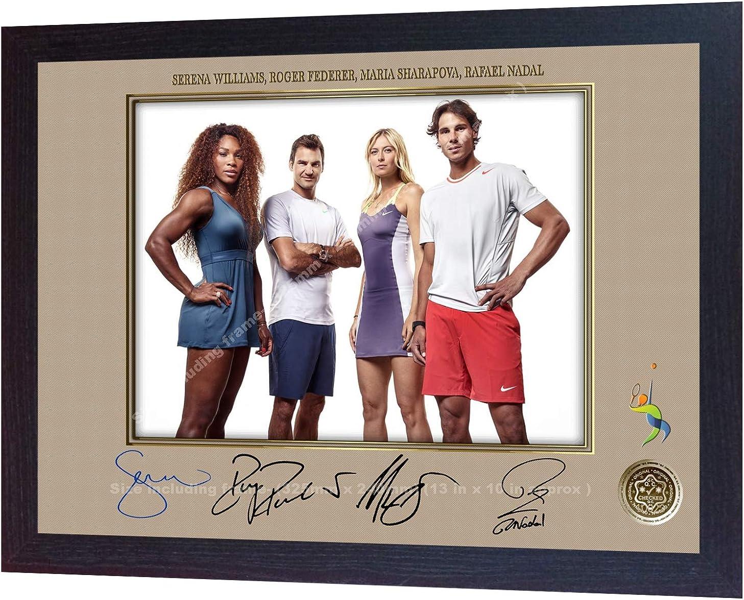 Amazon Com S E Desing Roger Federer Rafael Nadal Serena Williams Maria Sharapova Signed Photo Framed Clothing
